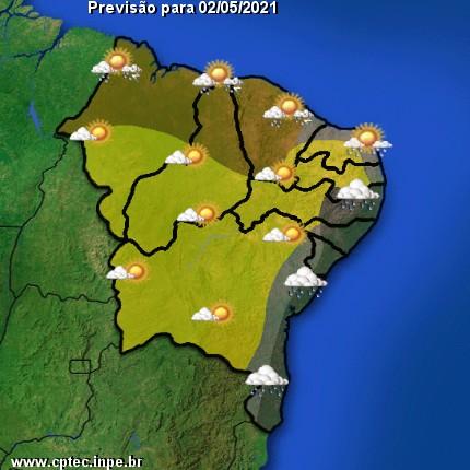 Previsão do Tempo hoje para o Nordeste