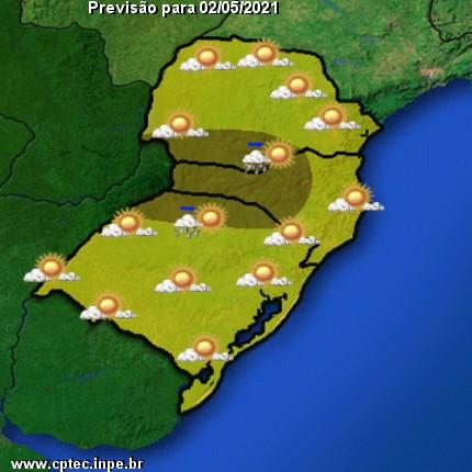 Previsão do tempo para hoje na Região Sul do Brasil