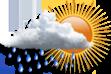 Ícone de condição de tempo: Chuvas Isoladas
