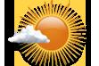 Ícone de condição de tempo: Predomínio de Sol